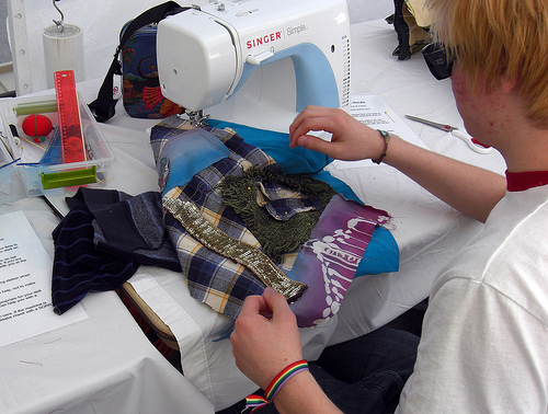 Sewing at Green Street Fair