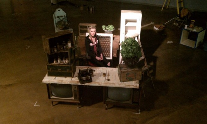 Tiffany Best shows off an example of how a vendors space may look at Rust Belt Market