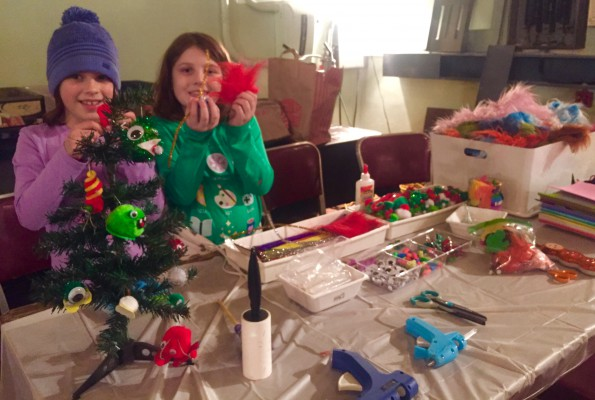 Weepul-people! Lucy & Audrey show off their creations.